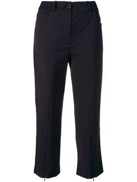Aalto cropped slim-fit trousers - Blue