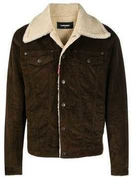 Dsquared2 shearling jacket - Brown