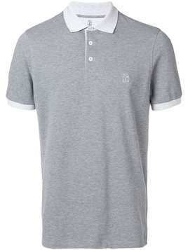 Brunello Cucinelli branded polo shirt - Grey