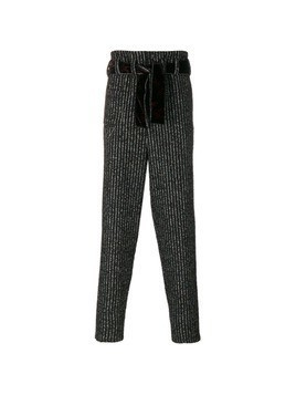 Damir Doma belted striped trousers - Black