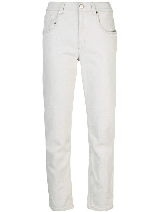 Brunello Cucinelli slim fit jeans - Neutrals
