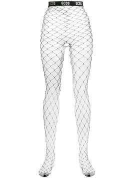 Gcds wide net hosiery - Black