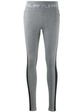 Philipp Plein logo leggings - Grey