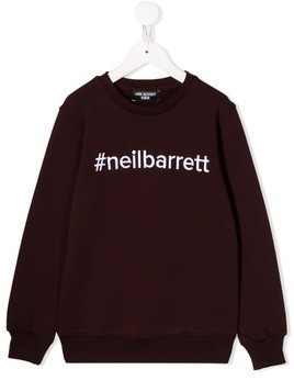 Neil Barrett Kids embroidered logo sweatshirt