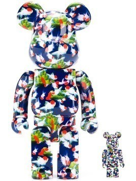 Medicom Toy abstract print bear figure - Blue