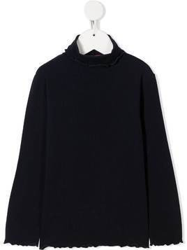 Il Gufo turtle neck top - Blue