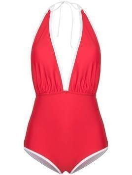 Perfect Moment deep V-neck swim suit - Red