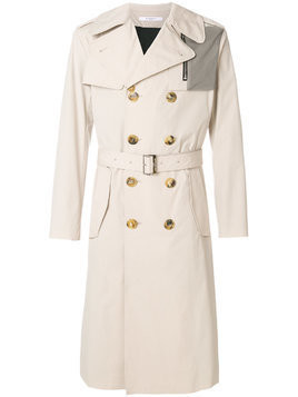 Givenchy contrasting pocket trench coat - Nude & Neutrals