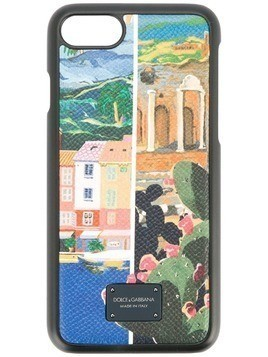 Dolce & Gabbana Sicilian print iPhone 8 case - Multicolour