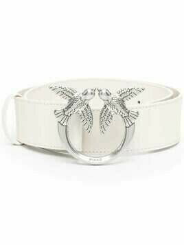 Pinko Love Birds leather belt - White