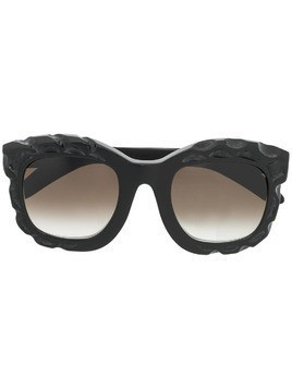Kuboraum textured sunglasses - Black