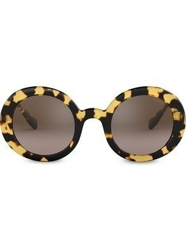Miu Miu Eyewear round frame sunglasses - Brown