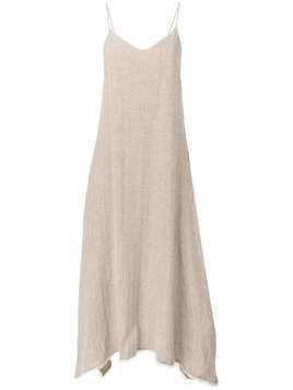 Dusan maxi asymmetric dress - Neutrals