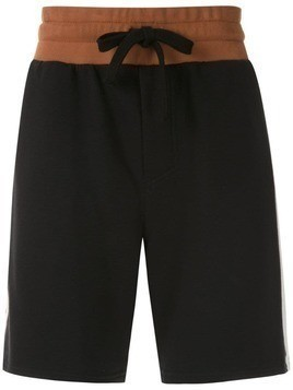 Osklen side stripes shorts - Black