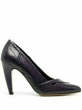 Tila March Shoreditch snakeskin effect pumps - PURPLE