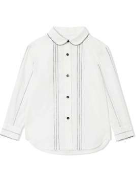 Burberry Kids Peter Pan collar shirt - White