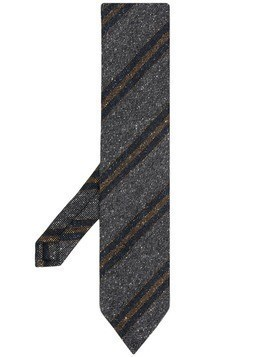 Eton striped tie - Grey