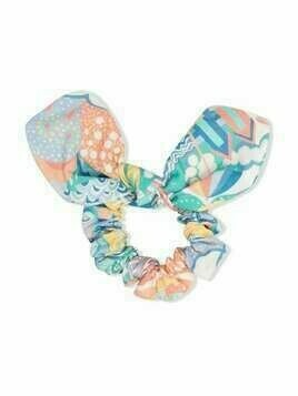 Bonpoint bow-detail hair scrunchie - Blue
