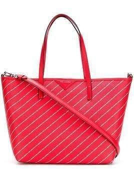 Karl Lagerfeld K/Stripe logo shopper tote - Red