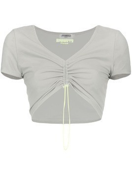 Miaou Gwen drawstring crop top - Grey