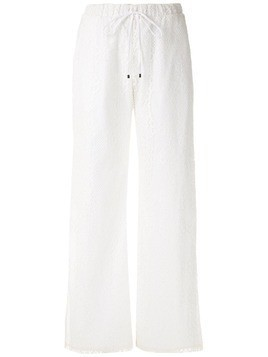Olympiah Tournesol lace wide leg trousers - White