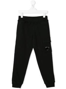 Cp Company Kids straight leg track trousers - Black