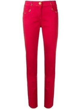 Cavalli Class mid rise skinny jeans - Red