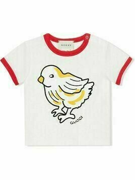 Gucci Kids chick-print T-shirt - White