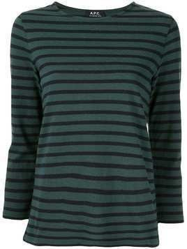 A.P.C. stripe print T-shirt - Green