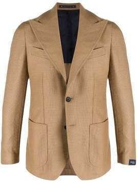 Bagnoli Sartoria Napoli woven single-breasted blazer - Brown