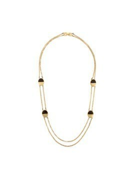Givenchy Vintage oval detail chain necklace - Metallic