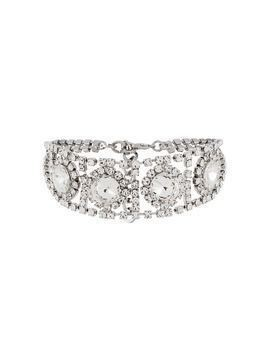 Alessandra Rich crystal embellished choker - Silver