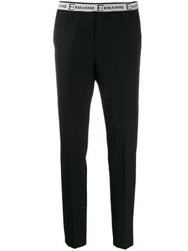 Ermanno Ermanno logo waistband trousers - Black
