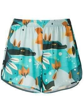 Lygia & Nanny Lee printed jersey shorts - Blue
