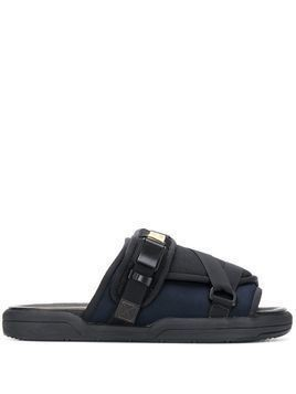 Visvim slider sandals - Black