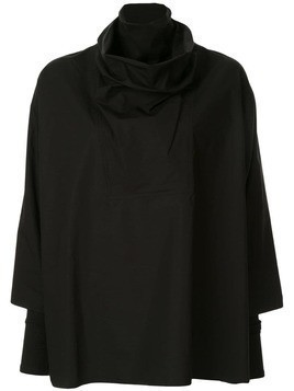 Nehera funnel neck oversized shirt - Black
