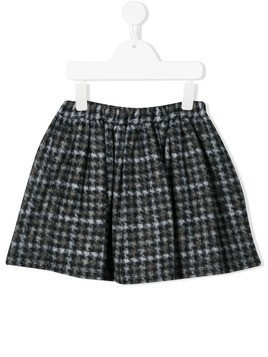 Douuod Kids houndstooth print skirt - Green