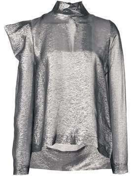 Dice Kayek structured shoulders blouse - SILVER