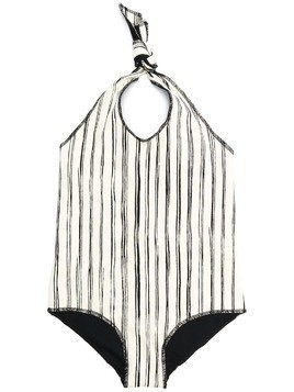 Little Creative Factory Kids halterneck striped swimsuit - Neutrals