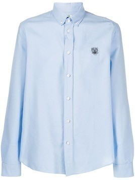 Kenzo logo embroidered shirt - Blue