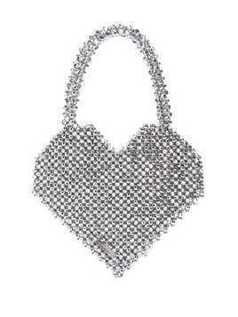 Loeffler Randall Maria beaded heart bag - Silver