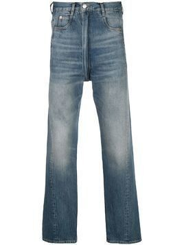 Martine Rose high-waisted straight-leg jeans - Blue