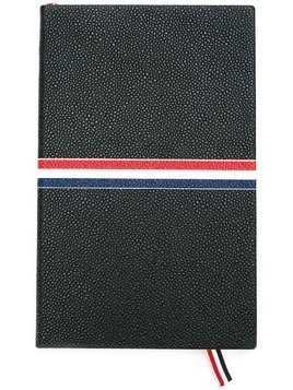 Thom Browne large signature stripes notebook - Black