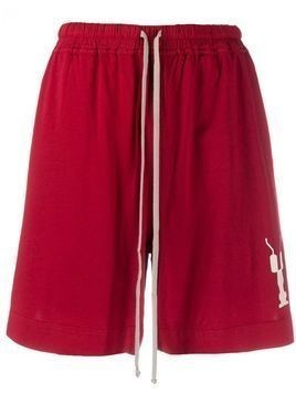Rick Owens DRKSHDW drawstring cotton shorts - Red