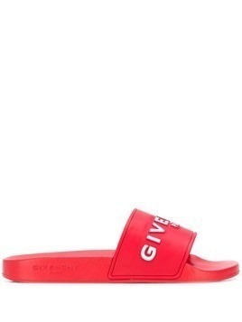 Givenchy logo slides - Red