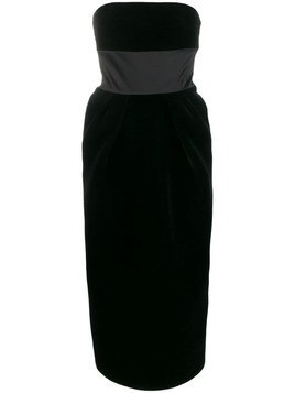 David Koma sleeveless midi dress - Black