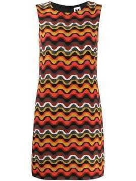M Missoni geometric silk dress - Orange