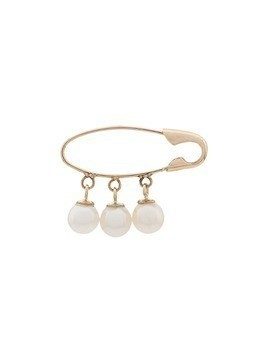 Loren Stewart 14kt gold Safety Pin pearl earring - Sm000 Gold White