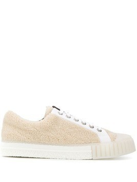 Adieu Paris textured lace up sneakers - Neutrals