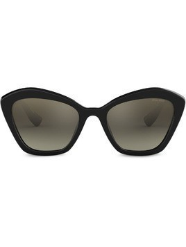 Miu Miu Eyewear gradient oversized sunglasses - Black